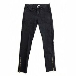 URBAN OUTFITTERS BDG Black Zipper Jeans